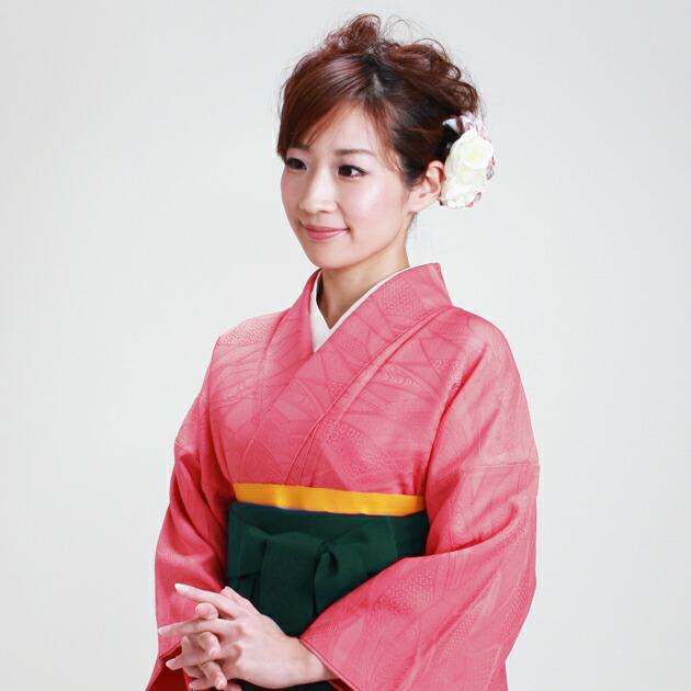 卒業式 袴 レンタル ショッキングピンク色 身長〜155cm,7号〜13号 NT-muji33
