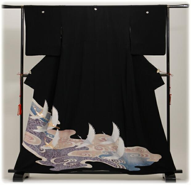 黒留袖 レンタル [広幅:13〜17号]留袖 レンタル 着物 留め袖 NT-L284