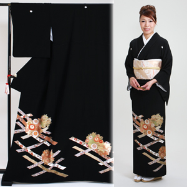 黒留袖 レンタル [標準サイズ:150cm〜163cm] 留袖 レンタル 着物 留め袖 NT-852