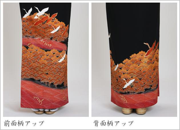 黒留袖 レンタル [標準サイズ:150cm〜165cm] 留袖 レンタル 着物 留め袖 NT-756