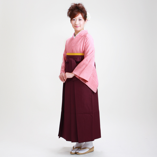 卒業式 袴 レンタル ピンク色 身長〜155cm,7号〜13号 NT-muji34