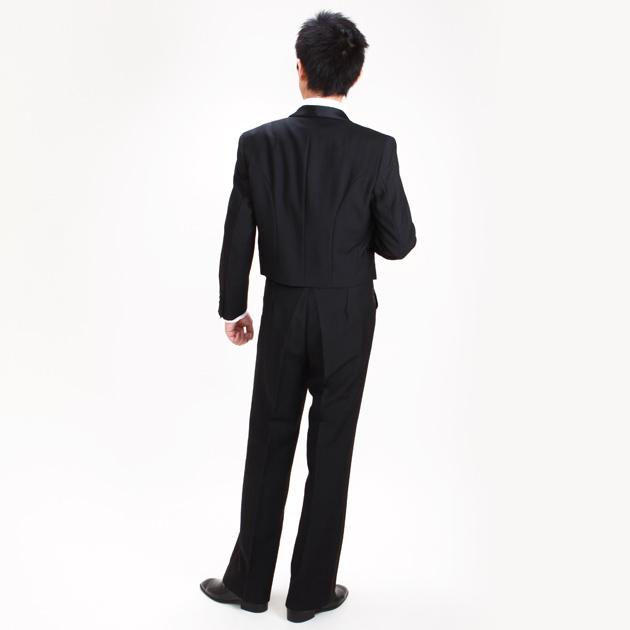 【スペンサー タキシード レンタル】L・XLサイズ/170cm〜182cm/黒 パーティ 演奏会 2075l