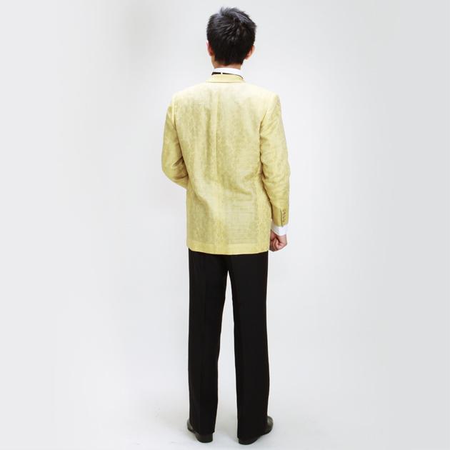 【ショールカラー タキシード レンタル】M・Lサイズ/168cm〜175cm/イエロー パーティ 演奏会 1019