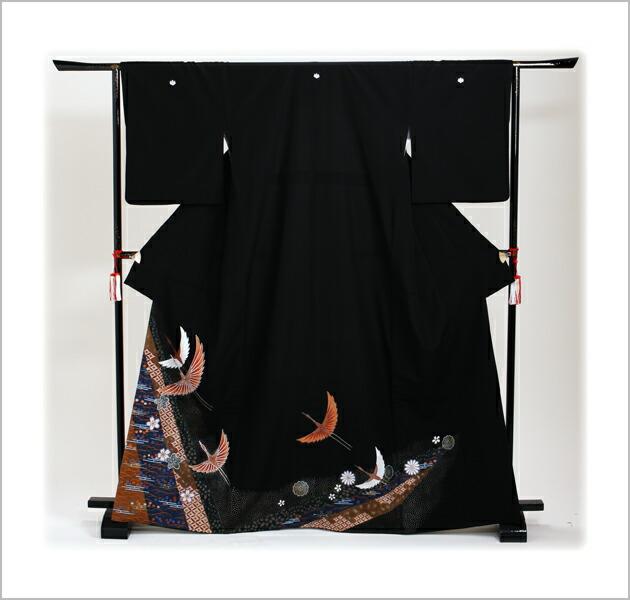 黒留袖 レンタル [標準サイズ:150cm〜160cm] 留袖 レンタル 着物 留め袖 NT-736