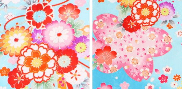 袴 レンタル 女の子/5〜7歳 七五三着物 7歳 七五三着物7歳 水色/花 卒園式 結婚式 ★NT-袴505