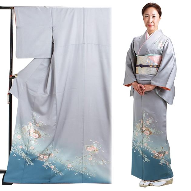 訪問着 レンタル 袷 10月〜5月[〜160cm] お茶会 卒業式 入学式 着物 houmongi51
