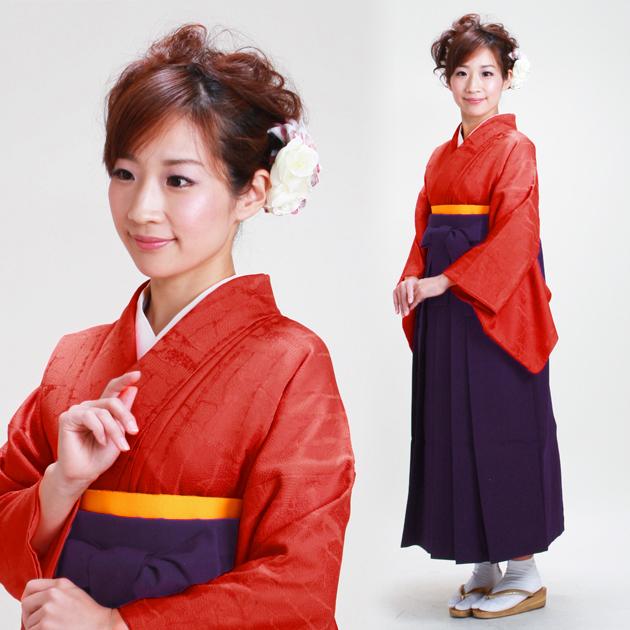 卒業式 袴 レンタル レンガ色 身長〜158cm,7号〜13号 NT-muji37