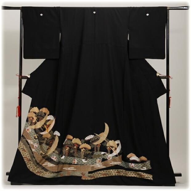 黒留袖 レンタル [広幅:13〜17号]留袖 レンタル 着物 留め袖 NT-L813