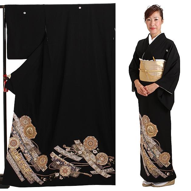 黒留袖 レンタル [標準サイズ:150cm〜165cm] 留袖 レンタル 着物 留め袖 NT-926