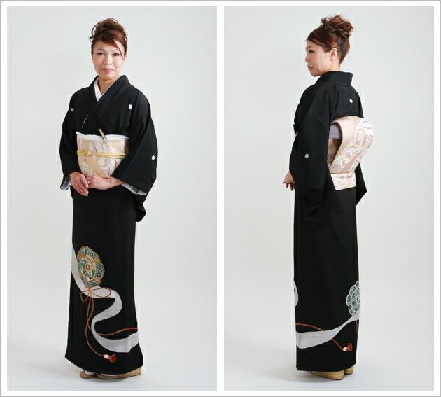 黒留袖 レンタル [標準サイズ:〜155cm] 留袖 レンタル 着物 留め袖 NT-37