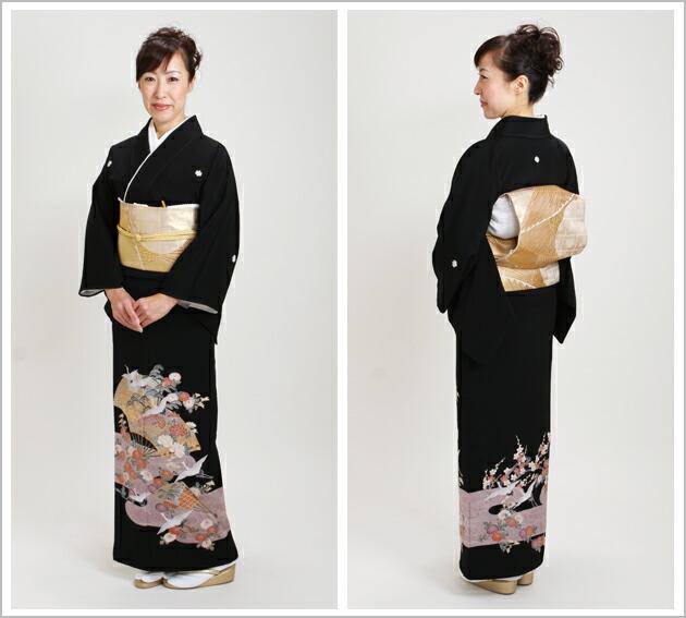 黒留袖 レンタル [広幅:11〜15号]留袖 レンタル 着物 留め袖 NT-L551