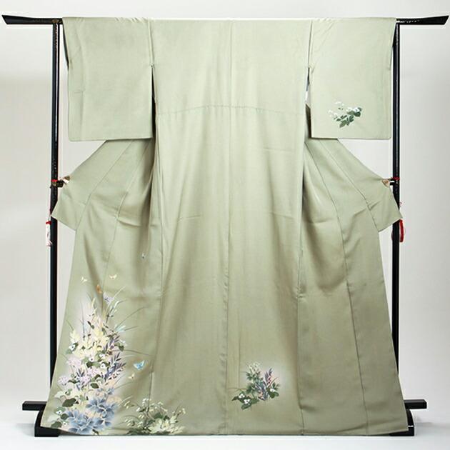 訪問着 レンタル 袷 10月〜5月[〜160cm] お茶会 卒業式 入学式 着物 houmongi52