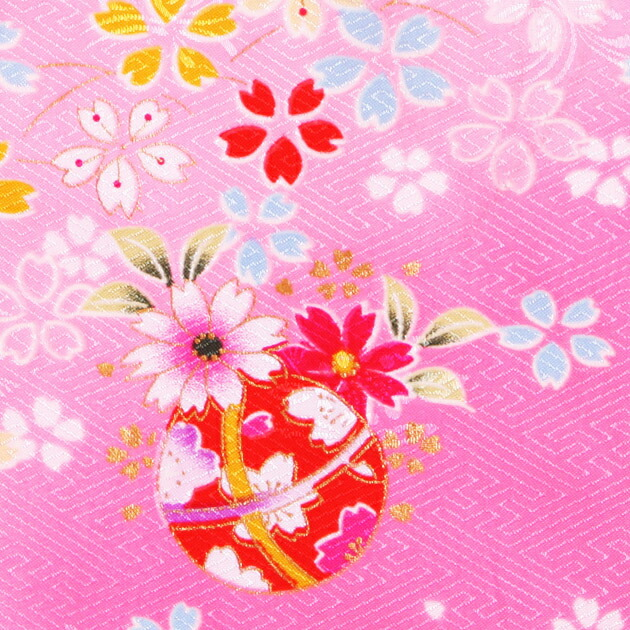 七五三 被布セット レンタル 女の子 3歳 ピンク色/桜まり〔身長:90cm,92cm〕 卒園式 結婚式 NT-354-21