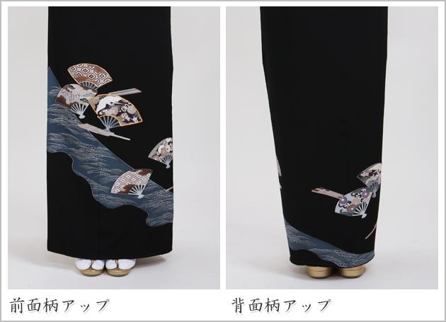 黒留袖 レンタル [標準サイズ:150cm〜158cm] 留袖 レンタル 着物 留め袖 NT-91