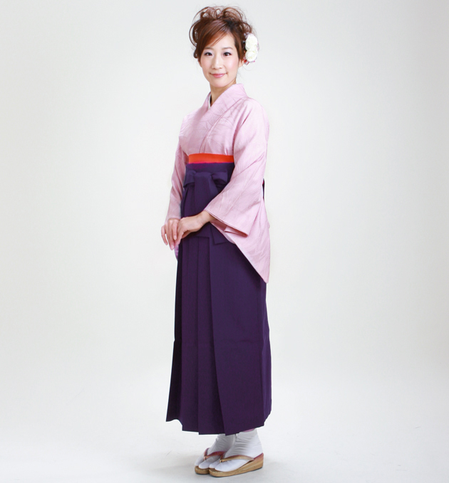 卒業式 袴 レンタル 薄紫色 身長〜158cm,7号〜13号 NT-muji50
