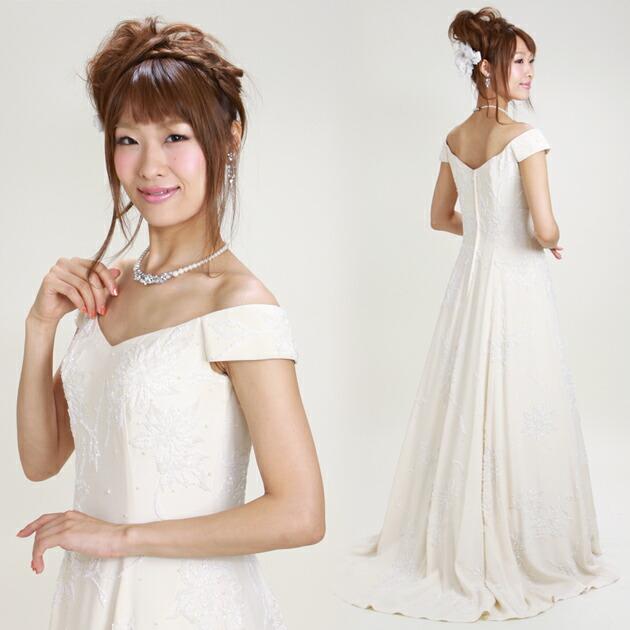二次会ドレス レンタル 9号 ソフトスレンダー オフホワイト 結婚式の2次会に 8321