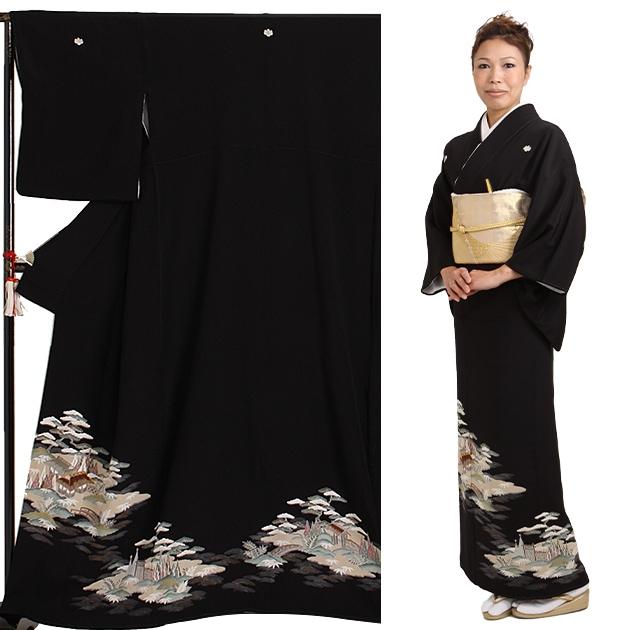 黒留袖 レンタル [標準サイズ:150cm〜158cm] 留袖 レンタル 着物 留め袖 NT-572