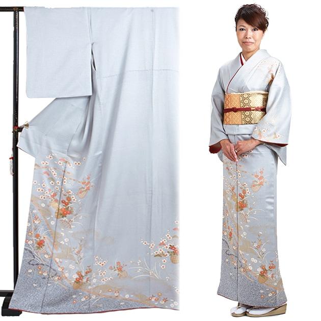 訪問着 レンタル 袷 10月〜5月[〜160cm] お茶会 卒業式 入学式 着物 houmongi30