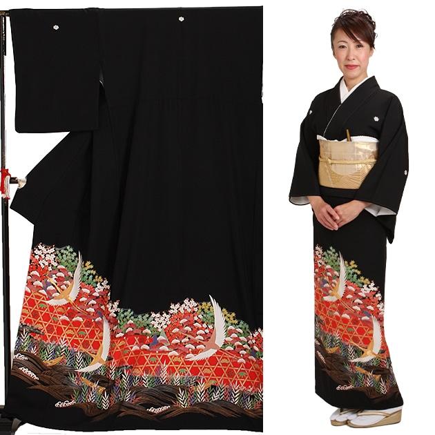 黒留袖 レンタル [標準サイズ:〜160cm] 留袖 レンタル 着物 留め袖 NT-587