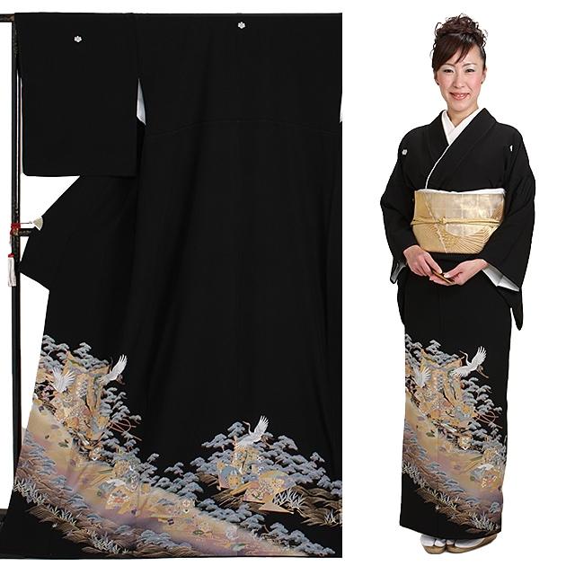 黒留袖 レンタル [標準サイズ:150cm〜165cm] 留袖 レンタル 着物 留め袖 NT-918