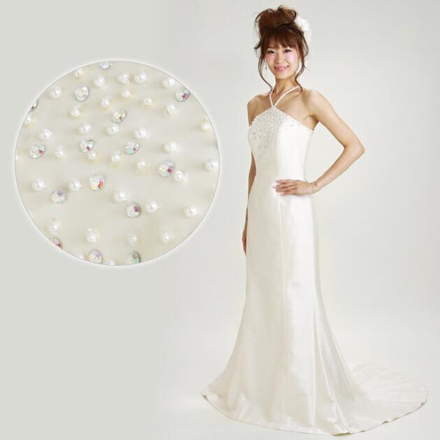 二次会ドレス レンタル 9号 マーメイド オフホワイト 結婚式の2次会に 8323