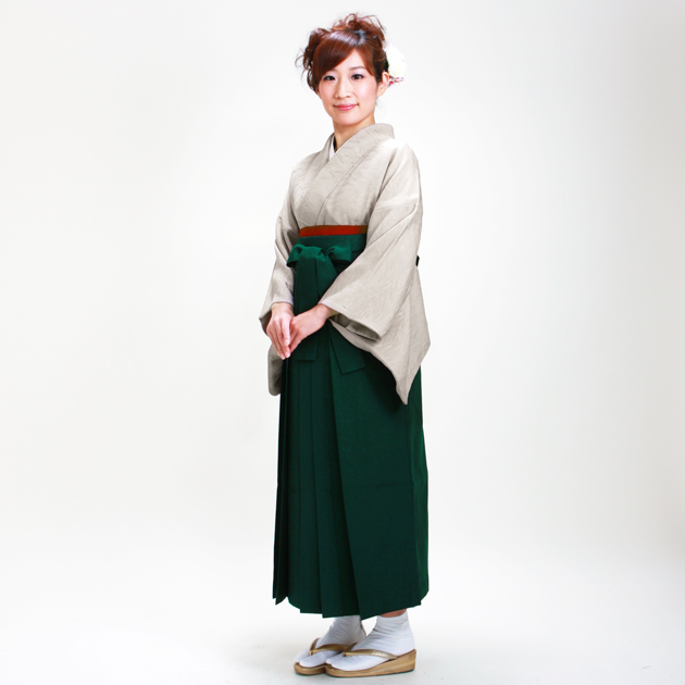 卒業式 袴 レンタル ベージュ色 身長〜155cm,7号〜13号 NT-muji54
