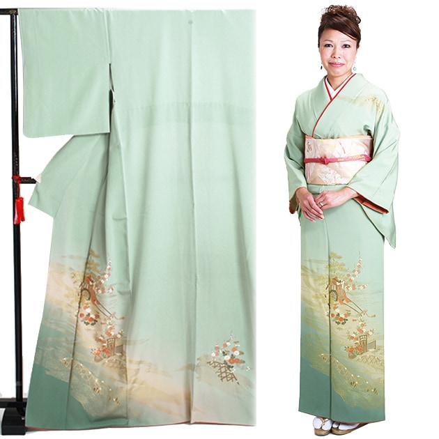 訪問着 レンタル 袷 10月〜5月[〜160cm] お茶会 卒業式 入学式 着物 houmongi32