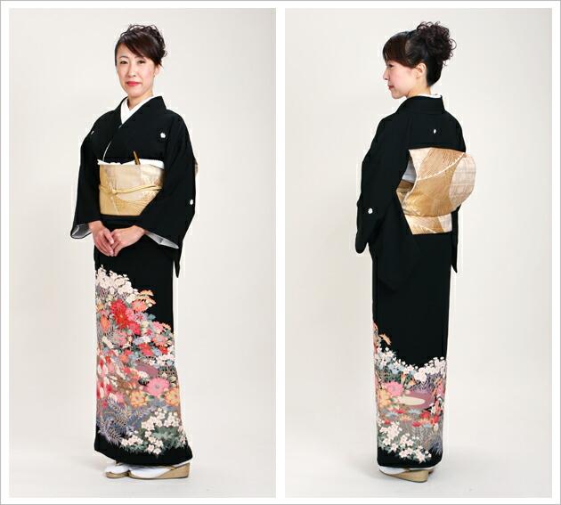 黒留袖 レンタル [標準サイズ:150cm〜163cm] 留袖 レンタル 着物 留め袖 NT-599