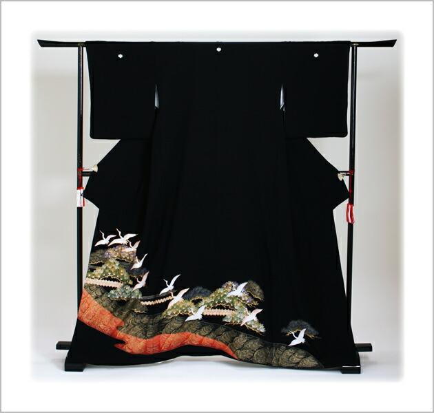 黒留袖 レンタル [広幅:11〜15号]留袖 レンタル 着物 留め袖 NT-L274