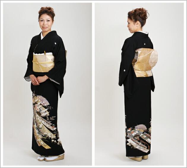 黒留袖 レンタル [標準サイズ:150cm〜165cm] 留袖 レンタル 着物 留め袖 NT-928