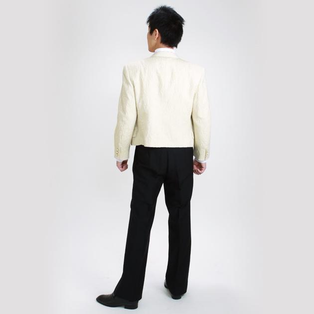 【スペンサー タキシード レンタル】M・Lサイズ/165cm〜172cm/白 パーティ 演奏会 500787