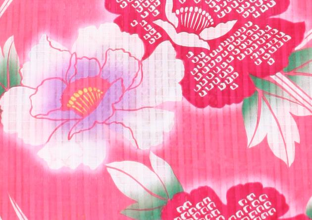 【浴衣 レンタル】レディース 3点セット☆浴衣・帯・下駄☆nt-y005 ピンク/花