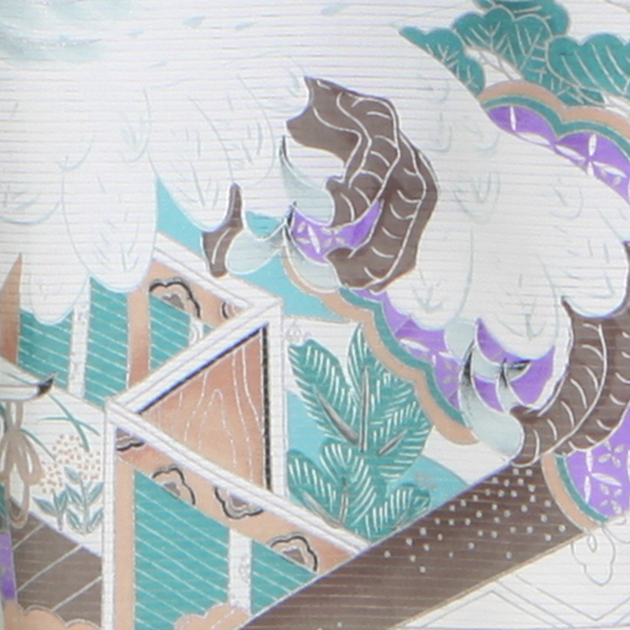夏用 絽〔お宮参り レンタル 夏物〕黒色/扇 鷹 ro-125 ふたご 男の子 初着 産着 お宮参りレンタル