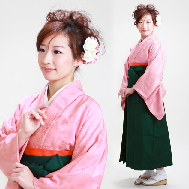 卒業式 袴 レンタル ピンク色 身長〜160cm,7号〜13号 NT-muji59