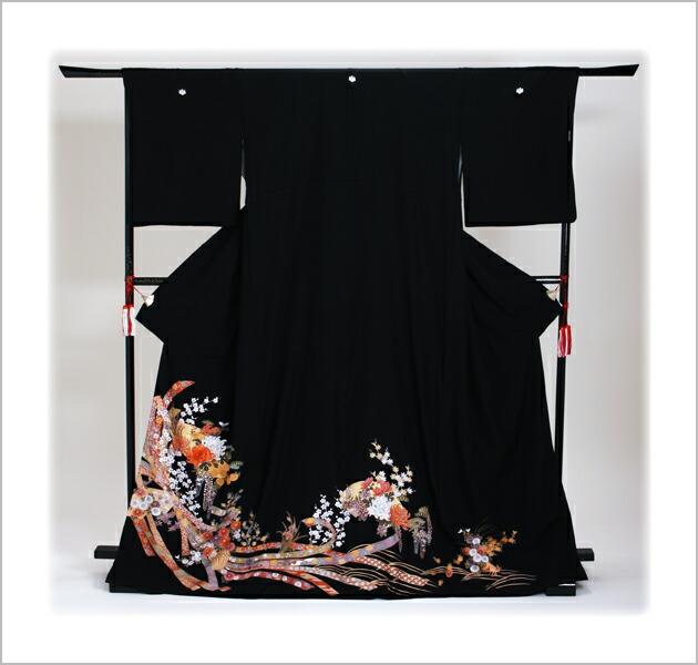 黒留袖 レンタル [広幅:13〜19号]留袖 レンタル 着物 留め袖 NT-LL886