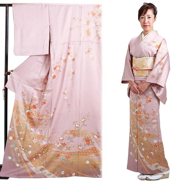 訪問着 レンタル 袷 10月〜5月[〜160cm] お茶会 卒業式 入学式 着物 houmongi39