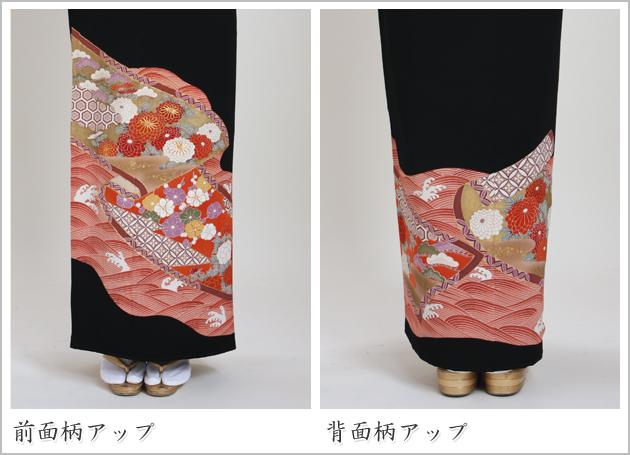 黒留袖 レンタル [標準サイズ:〜158cm] 留袖 レンタル 着物 留め袖 NT-307