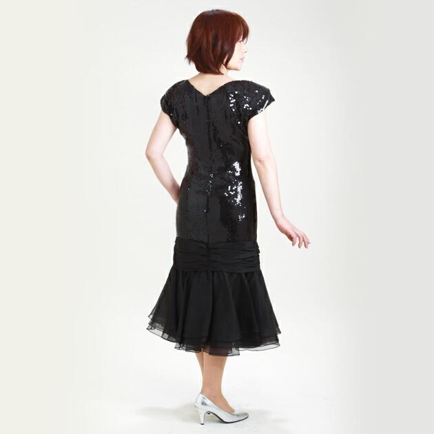 レディースドレス レンタル 9号 黒 ワンピース r1445