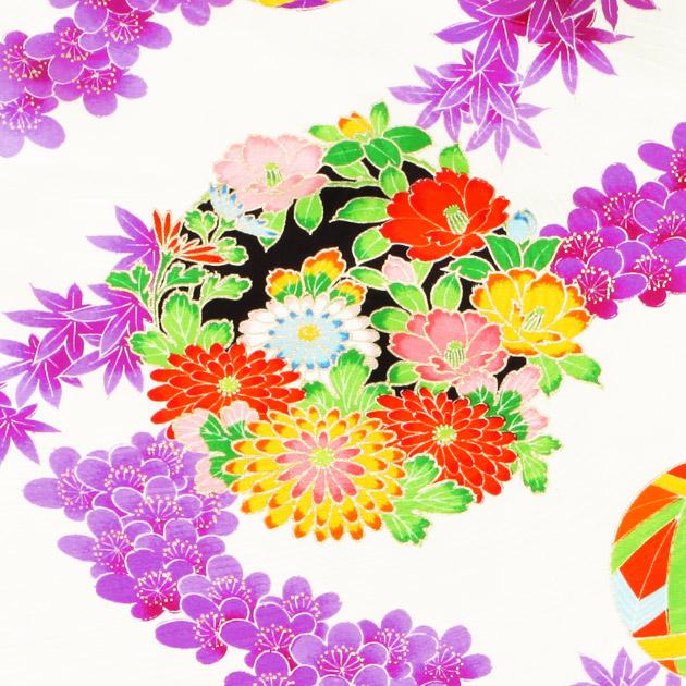 袴 レンタル 女の子/5〜7歳 七五三着物 7歳 七五三着物7歳 紫白色/てまり 卒園式 結婚式 ★NT-袴ケ