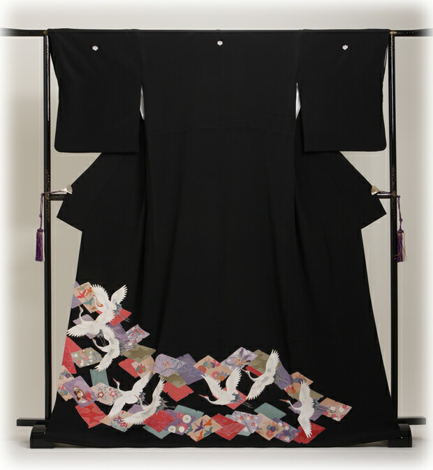 黒留袖 レンタル [標準サイズ:150cm〜160cm] 留袖 レンタル 着物 留め袖 NT-298