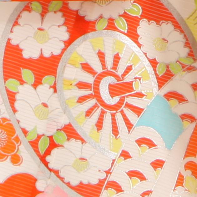 夏用 絽〔お宮参り レンタル 夏物〕赤色・白色 /花車 ro-132 初着 産着 お宮参りレンタル 祝着 よだれかけ