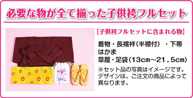 袴 レンタル 女の子/5〜7歳 七五三着物 7歳 七五三着物7歳 朱色/花いかだ小紋 卒園式 結婚式 NT-袴ウ