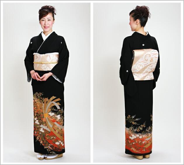 黒留袖 レンタル [標準サイズ:150cm〜163cm] 留袖 レンタル 着物 留め袖 NT-898