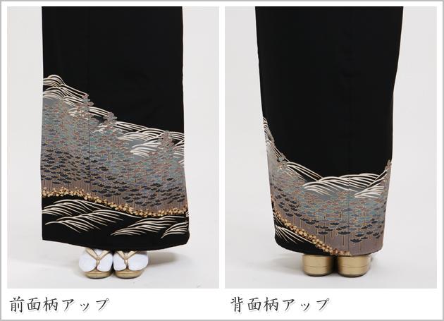 黒留袖 レンタル [標準サイズ:150cm〜160cm] 留袖 レンタル 着物 留め袖 NT-818