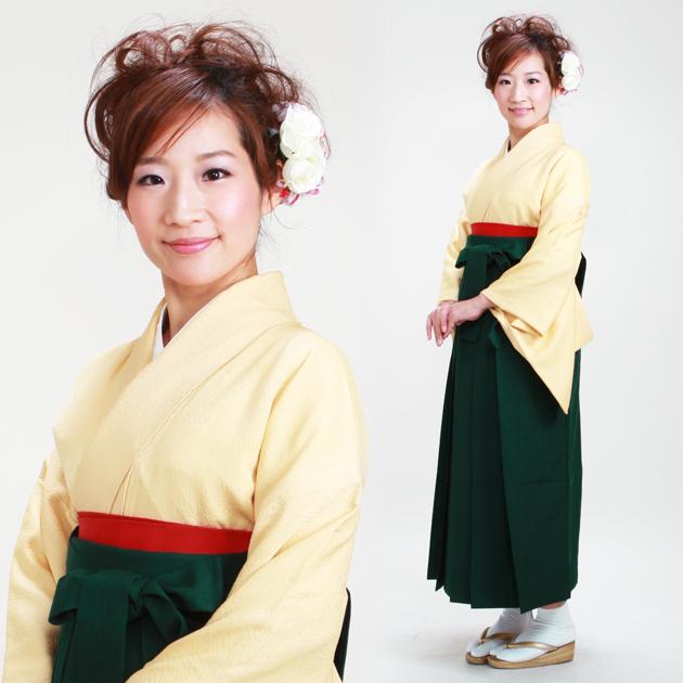 卒業式 袴 レンタル クリーム色 身長〜160cm,7号〜13号 NT-muji72