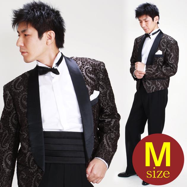 【スペンサー タキシード レンタル】M・Lサイズ/165cm〜172cm/ブラウン 52438b