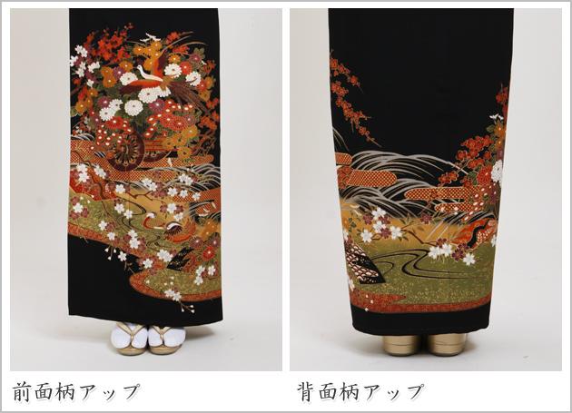 黒留袖 レンタル [標準サイズ:150cm〜165cm] 留袖 レンタル 着物 留め袖 NT-745