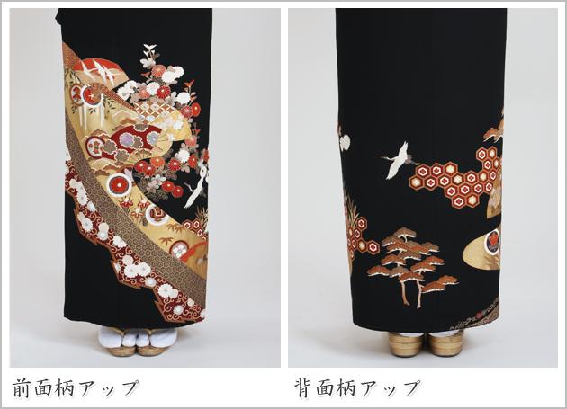黒留袖 レンタル [標準サイズ:150cm〜160cm] 留袖 レンタル 着物 留め袖 NT-814