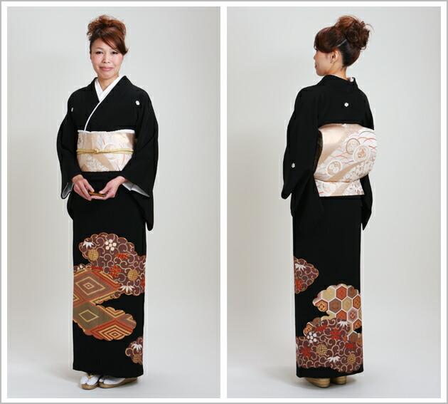 黒留袖 レンタル [標準サイズ:150cm〜163cm] 留袖 レンタル 着物 留め袖 NT-369