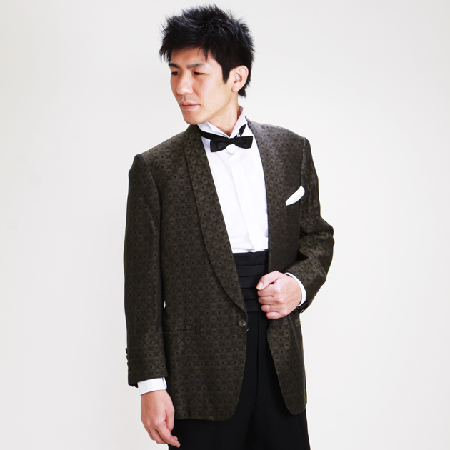 【ショールカラー タキシード レンタル】M・Lサイズ/168cm〜175cm/ブラウン パーティ 演奏会 1039